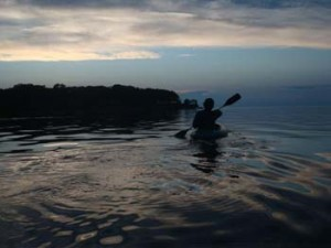 Kyaking at Sunset
